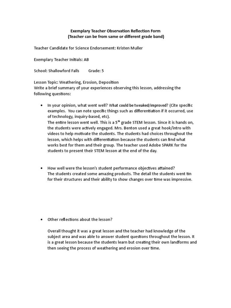 teacher observation form (11 views)