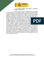 Sessão Coordenada - Trajetórias e Impasses Em Pesquisa Qualitativa Sobre Gênero e Sexualidade - Aspectos Teóricos, Metodológicos e de Aplicação