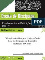 Lição 01 - Escola de Discípulos