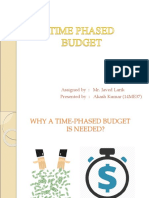 Time Phased Budget