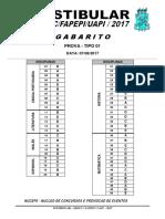 Gabarito UAPI 2017