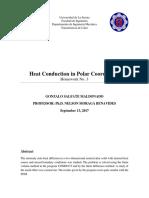 Heat conduction in polar coordinates
