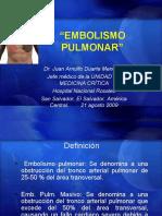 Embolismo Pulmonar Clase est. 6°año