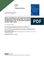 The Classical Review Volume 46 Issue 05 1932 [Doi 10.1017_S0009840X00060236] Winnington-Ingram, R. P. -- Aulos Und Kithara in Der Griechischen Musik Bis Zum Ausgang Der Klassischen Zeit. Von Helmut