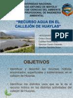 Recurso Agua en El Callejón de Huaylas