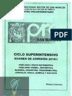 │ConCienCia│Ciclo Superintensivo 1era Semana Pre San Marcos 2018-I