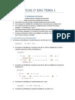 Matemc3a1ticas 2c2ba Eso Tema 1 Divisibilidad y Numeros Enteros Apuntes