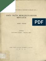 Doğu İslam Memleketlerinde Minyatür - Ernst Kühnel