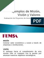 Ejemplo de Vision y Mision