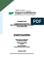 Guia Estatutos Cooperativas de Trabajo Asociado Supersolidaria Sep 09