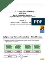 Cs 6461 Computer Architecture Lecture 11