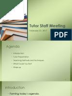 tutor training  and staff meeting feb 23 2017