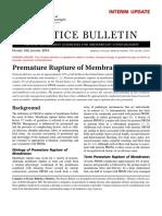 Premature Rupture of Membranes 2016