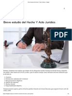 Breve estudio del Hecho Y Acto Jurídico.pdf