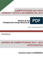 PPT Avance Agenda Competitividad a Diciembre 2015