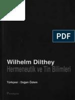 Wilhelm Dilthey - Hermeneutik ve Tin Bilimleri.pdf