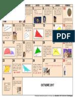 Calendario Matemático Octubre