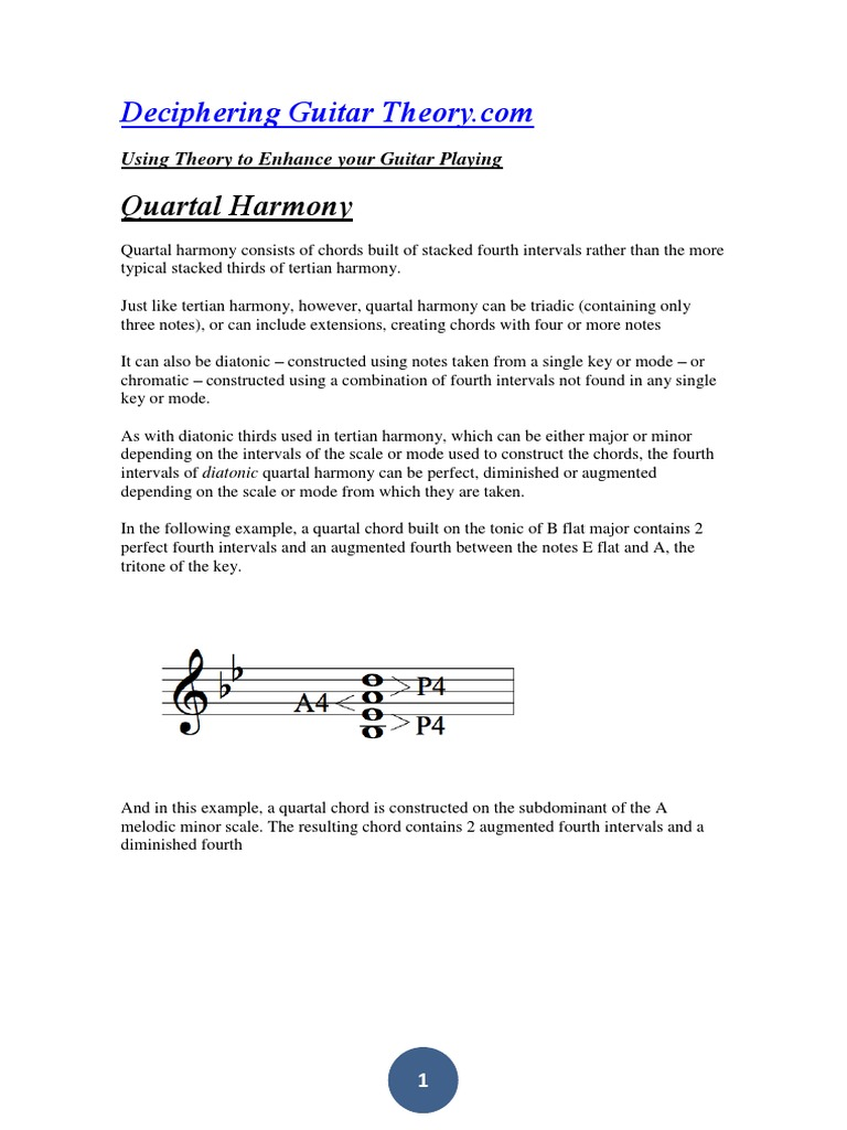 Deciphering Guitar Theorypdf Harmony Chord Music