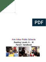 reading levels parent handbook