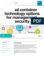 Virtual Container Technology Options for Management Security