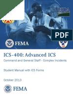 Advanced Incident Command System (ICS) 400 Student Manual