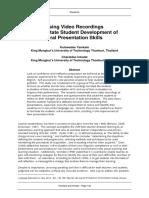 LEiA V3 I2 03 Yamkate Intratat Using Video Recordings to Facilitate Student Development of Oral Presentation Skills