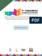 Programa Del Congreso Intersur 2017. Patrimonio cultural