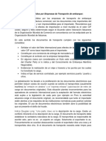 Documentos Emitidos Por Empresas de Transporte de Embarque