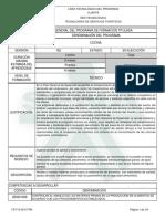 Estructura Curricular Sena Cocina