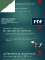 Exposicion Manual de La Entrevista Psicologica Grupo 2605