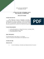 Criminal Law 1 Outline 2015