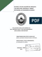 APLICACIONES DEL RELLENO HIDRAULICO EN EL METODO CORTE Y RELLENO