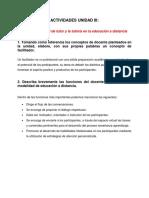 Actividades Unidad III Educacion a Distancia