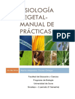 Fisiología Vegetal - Manual de Prácticas..