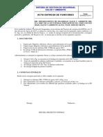 Ejemplo Acta de Entrega Recepcion