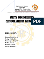 Safety and Emergency Considerations in work areas