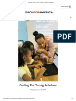 coding for young scholars   teach for america   baltimore