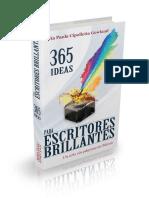 365 Ideas Para Escritores Brill - Maria Paula Cipolletta Gowland