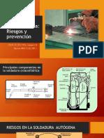 Soldadura Autogena (oxiacetilenica)  Normas preventivas y Riesgos
