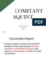 Concomitant Squint