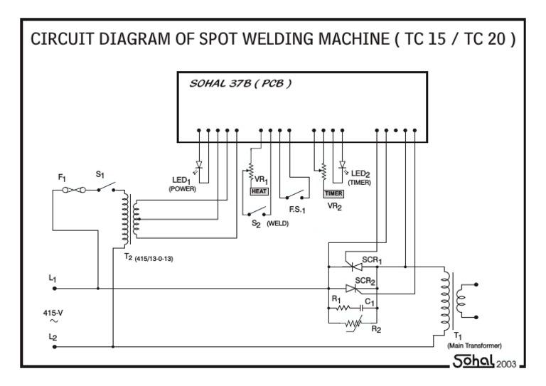 Circuit Diagram of Spot Welding Machine (tc15tc20) | Electrical Engineering  | Electronic Engineering | Spot Welding Schematic Diagram |  | Scribd