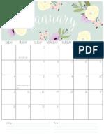 Calendar Blog 2018