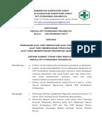 Sk 8.6.1.1 Pemisahan Alat Yang Bersih Dan Alat Yang Kotor,Alat Yang Memerlukan