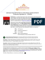 The Response event flyer