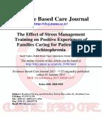Stress Management Training for Schizophrenia