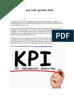KPI Que Todo Gerente Debe Saber