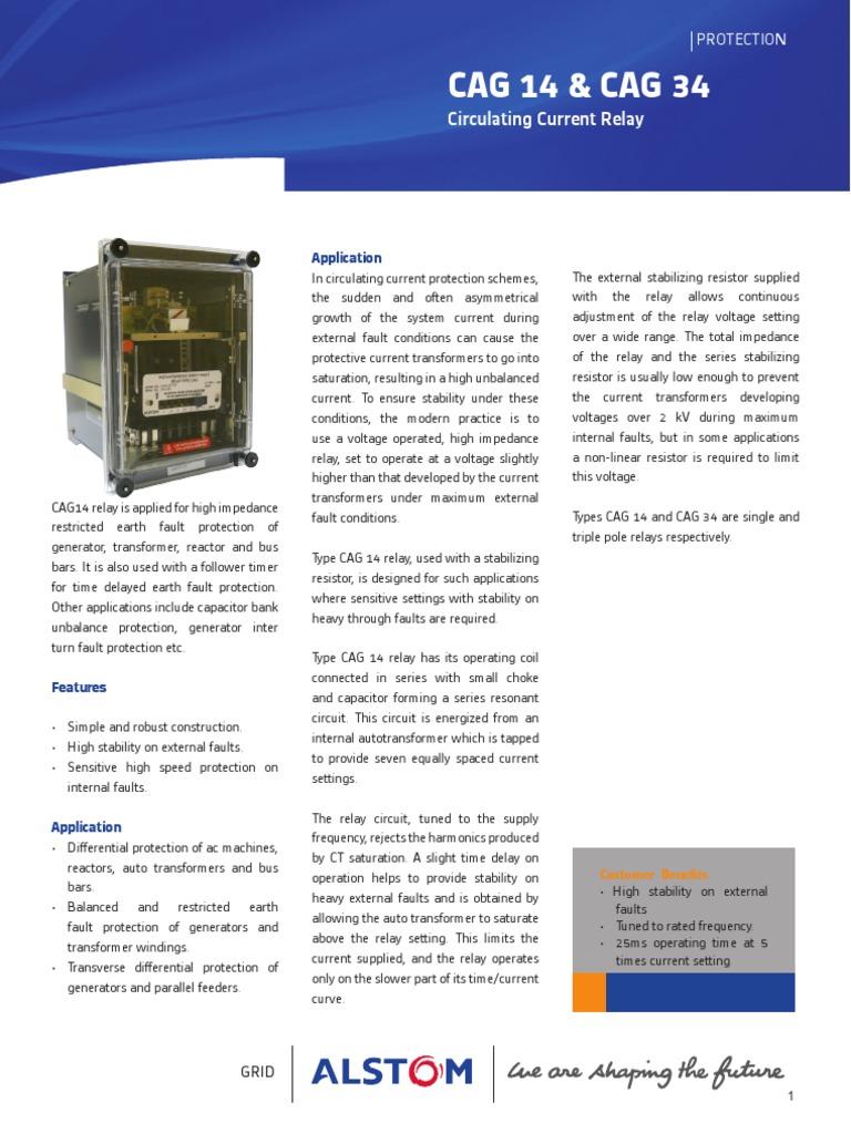 CAG 14 & CAG 34 | Relay | Transformer