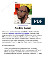 [AMILCAR CABRAL] Speech on National Liberation and Culture