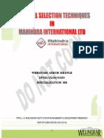 Hr(Revised) Personal Selection Techniues Vibhavari Khavle Jl060320