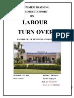 labour turnover
